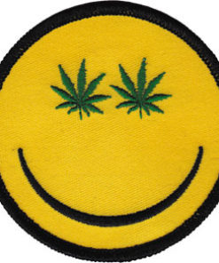 Patch Canabis Smiley