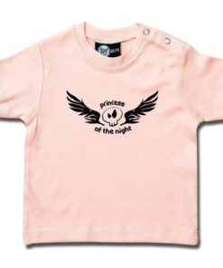 "T-shirt rock pour bébé ""princess of the night"" rose"