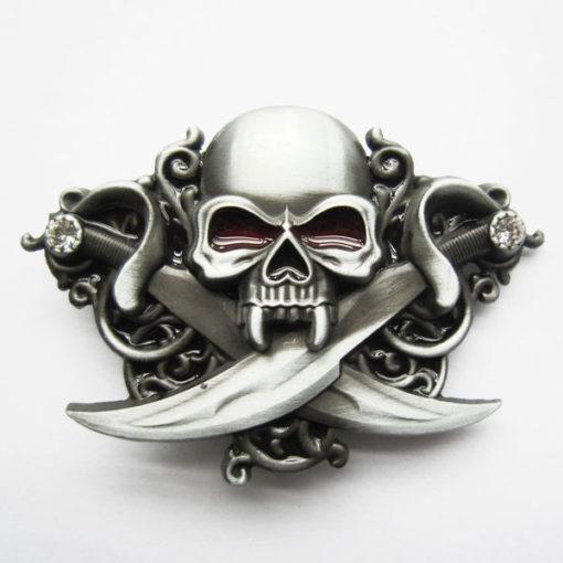Boucle de ceinture skull