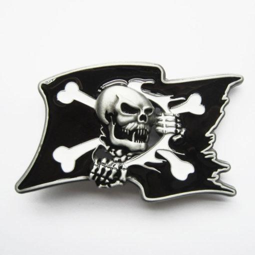 Boucle de ceinture Pirate Skull Flag