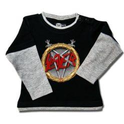 T-shirt Skate Bébé Slayer (Pentagram)