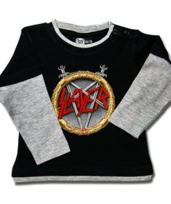 T-shirt Skate Bébé Slayer (Pentagram)