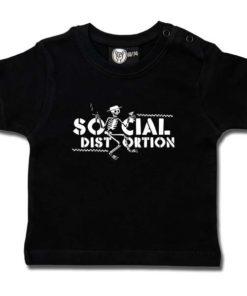 T-shirt bébé Social Distortion (Checkered Skellie)