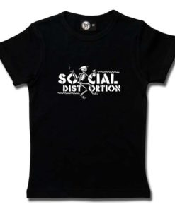 T-Shirt Fille Social Distortion (Checkered Skellie)