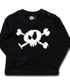 T-shirt bébé manches longues splashed skull