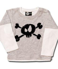 T-shirt Skate Bébé splashed skull