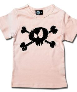 T-Shirt Fille splashed skull