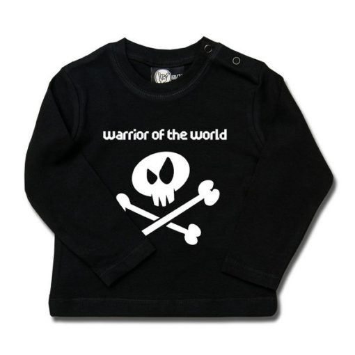 T-shirt bébé manches longues warrior of the world